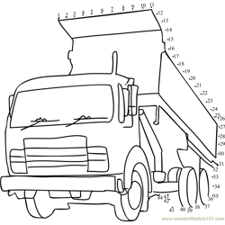 Tipper Truck Dot to Dot Worksheet