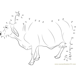 Holy Indian Cow Dot to Dot Worksheet