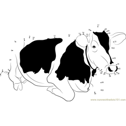 Jersey Cow Dot to Dot Worksheet