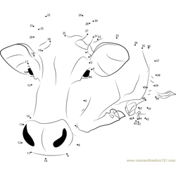 Shang Cow Dot to Dot Worksheet