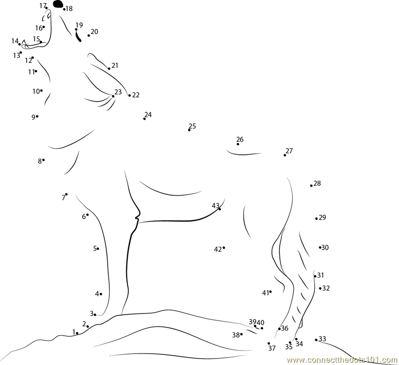 howling coyote coloring pages