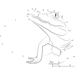 Great Baby Crocodile Dot to Dot Worksheet