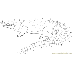Orinoco Crocodile Colombia Dot to Dot Worksheet