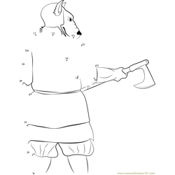 Dog Cynocephalus with Axe