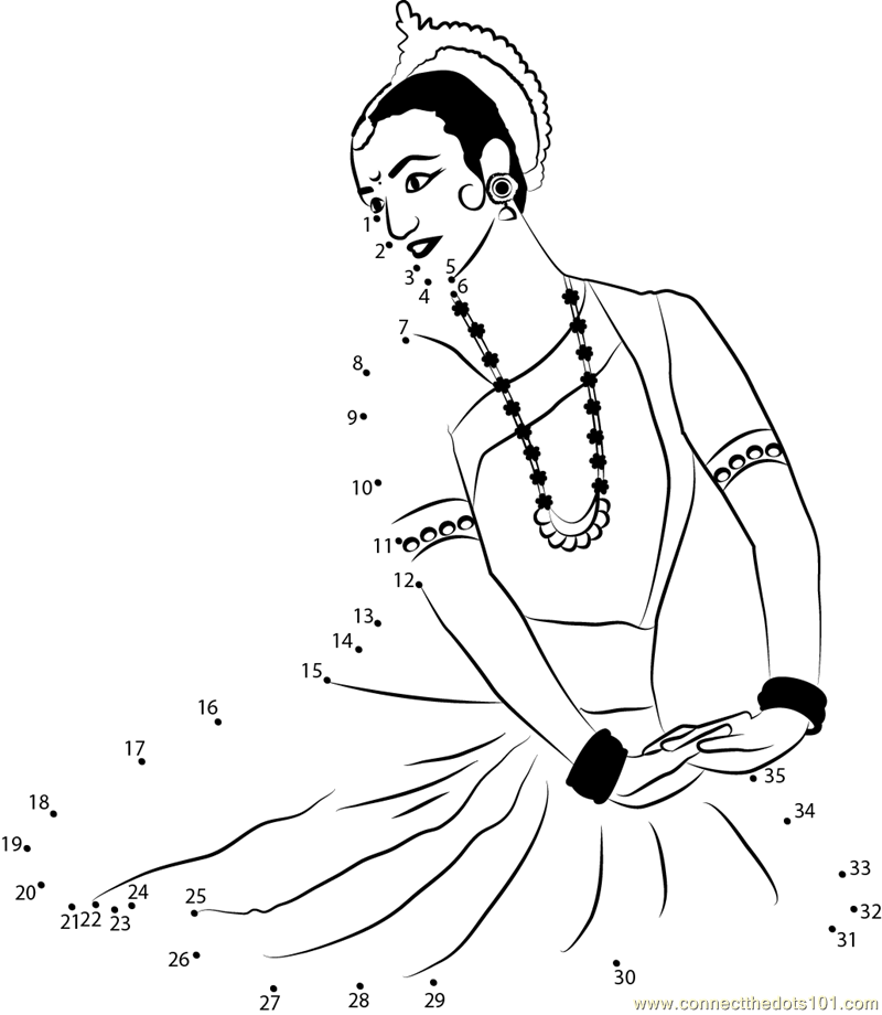 dancer Connect The Dots printable worksheets – Dance Worksheets