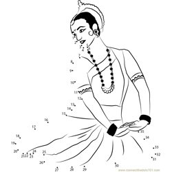 Classical Dance Dot to Dot Worksheet