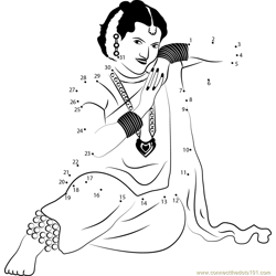 Marathi Lavni Dance Dot to Dot Worksheet
