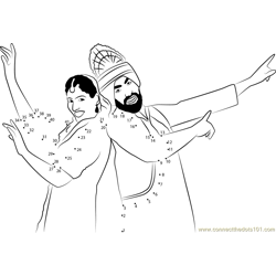 Punjabi Dancer Dot to Dot Worksheet