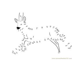 Sweet Deer Dot to Dot Worksheet