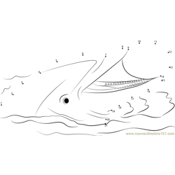 Dolphin With Ball Dot to Dot Worksheet