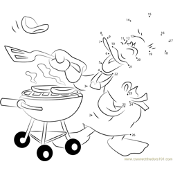 Donald Duck Cooking