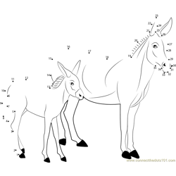 Donkey Dot to Dot Worksheet