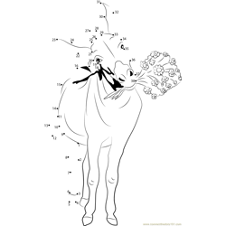 Happy Donkey Dot to Dot Worksheet