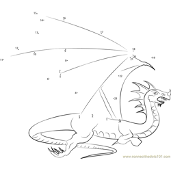 Flying with the Dragons Dot to Dot Worksheet