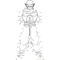 dragon ball z namekian Dot to Dot Worksheet