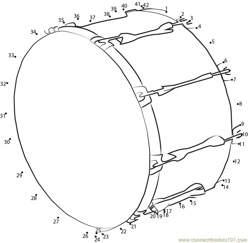 Bass Drum Dot To Printable Worksheet