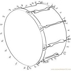 Bass Drum Dot to Dot Worksheet