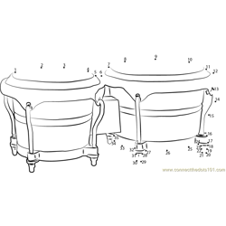 Bongo Drums Dot to Dot Worksheet