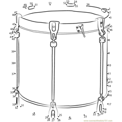 Scottish Tenor Drum Dot to Dot Worksheet