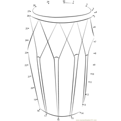 Traditional Hand Drum Dot to Dot Worksheet