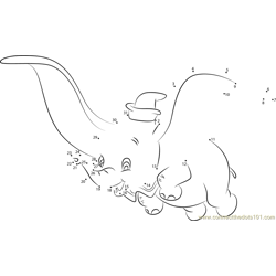 Dumbo Dot to Dot Worksheet