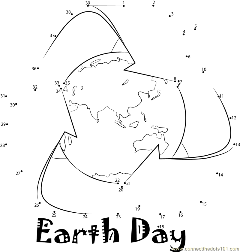 Earth Day Dot To Dot Printable Worksheet ConnectTheDots101