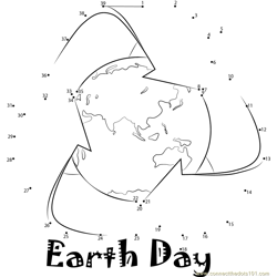 Earth Day Dot to Dot Worksheet