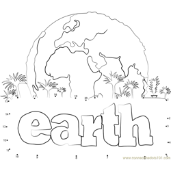 Earth Dot to Dot Worksheet