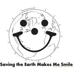Saving the Earth Dot to Dot Worksheet
