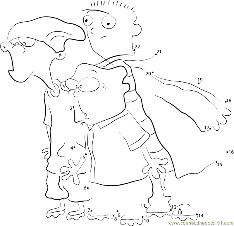 ed edd n eddy coloring pages - ed edd n eddy dot to dot printable worksheet connect