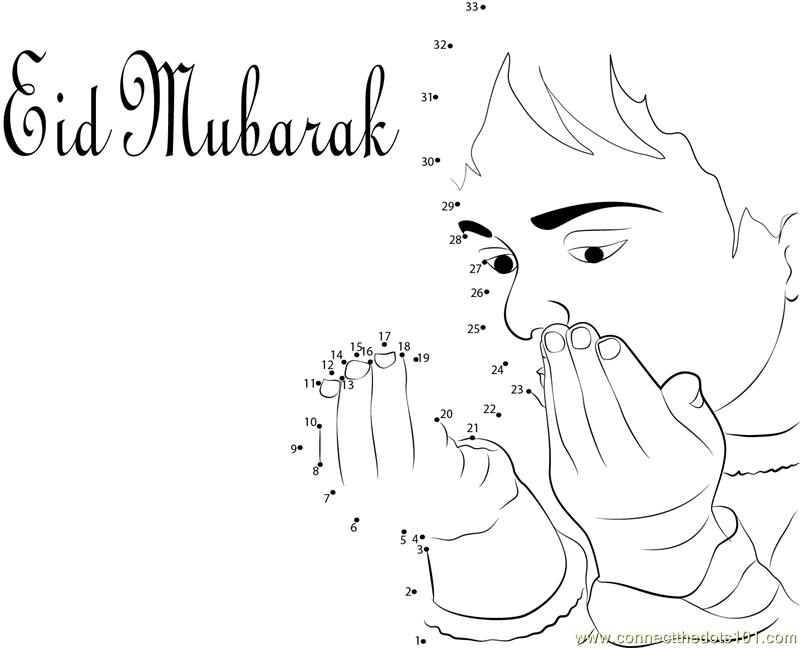 Beautiful Eid Ul Adha Dot To Dot Printable Worksheet