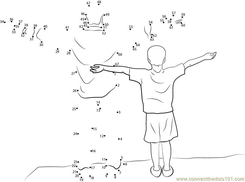 Father and Son dot to dot printable worksheet Connect
