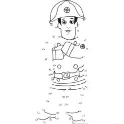 Fireman Sam Standing Dot to Dot Worksheet