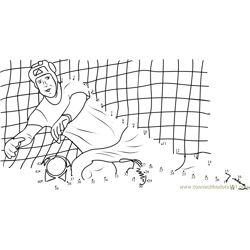 Football Goal keeper Dot to Dot Worksheet