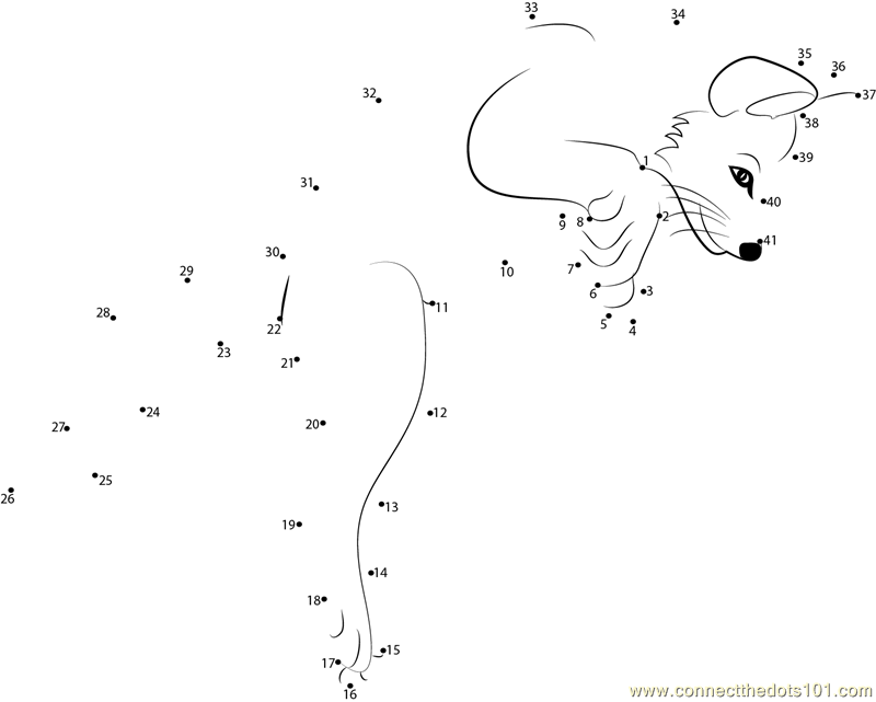 Jumping Fox Dot To Dot Printable Worksheet Connect The Dots
