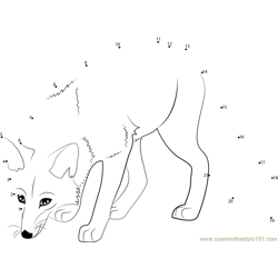 Hunting Fox Dot to Dot Worksheet