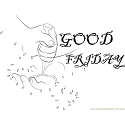 Good Friday Wishes Dot to Dot Worksheet