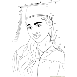 Girl Completing Her Graduate Dot to Dot Worksheet