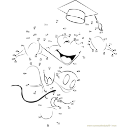 Mickey Mouse Graduation Dot to Dot Worksheet