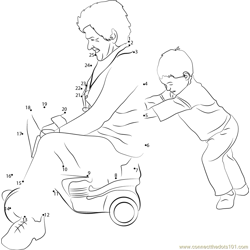 Child Pushing Grandmother