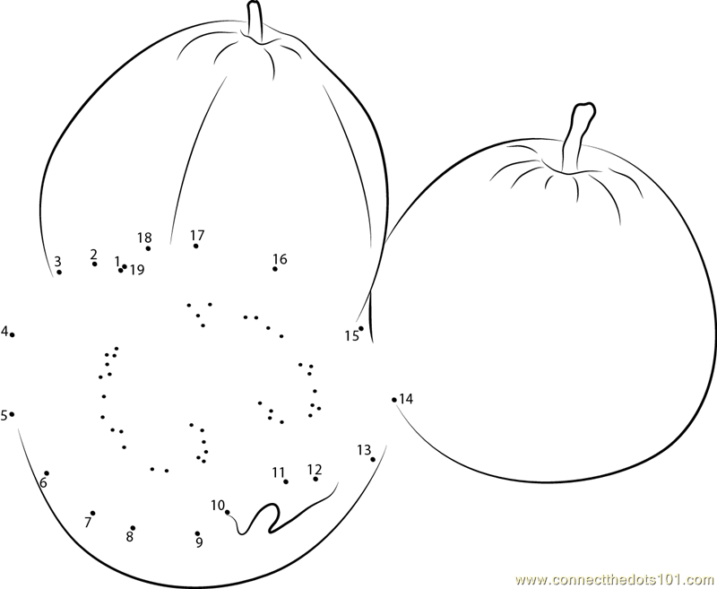 Guavas Cut dot to dot printable worksheet Connect The Dots