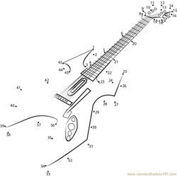 Wireless PS3 Guitar Dot to Dot Worksheet