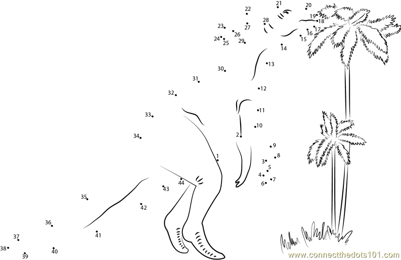 Hadrosaur Dino dot to dot printable