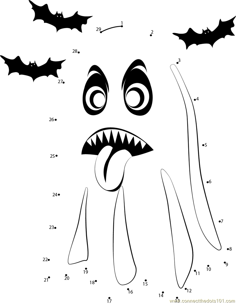 halloween ghost dot to dot printable worksheet connect the dots