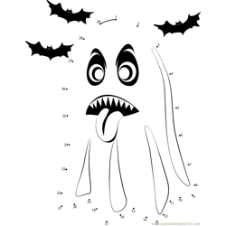 Halloween Ghost Dot to Dot Worksheet