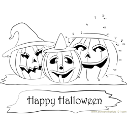Halloween Happy Pumpkins Dot to Dot Worksheet
