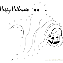 Halloween Dot to Dot Worksheet