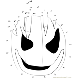 Happy Halloween Day Dot to Dot Worksheet