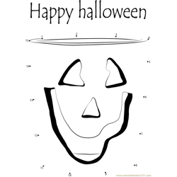 Happy Halloween Dot to Dot Worksheet