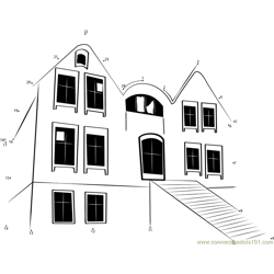 Abandoned Haunted House Dot to Dot Worksheet
